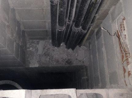 Duto de pressurização das escadas