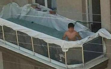 Sobrecarga em terraços de apartamentos