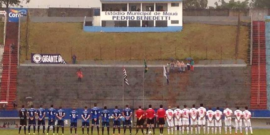 Vistoria do Estádio Municipal Pedro Benedetti, em Mauá