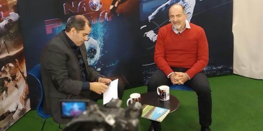 Entrevista no programa A Bola Não Para com Fredy Junior