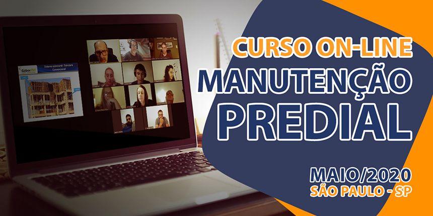 Curso On-line sobre Manutenção Predial - Maio/2020