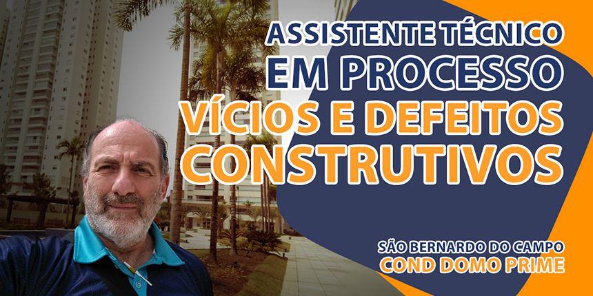Assistente Técnico em Processo de Vícios e Defeitos Construtivos