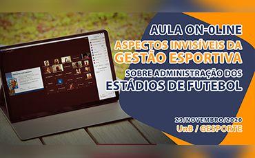 Aula sobre os Aspecto Visíveis da Gestão Esportiva - UnB/GESPORTE