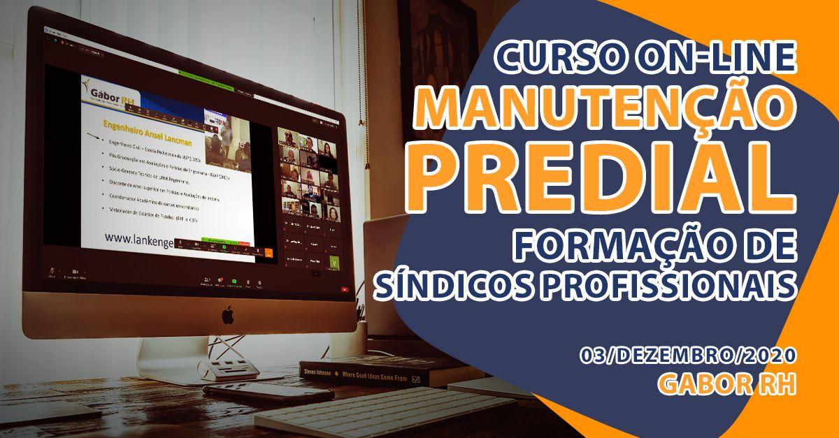 Curso On-Line sobre Manutenção Predial - Dezembro/2020