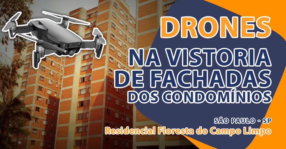 Lank utiliza drone para vistoria das fachadas